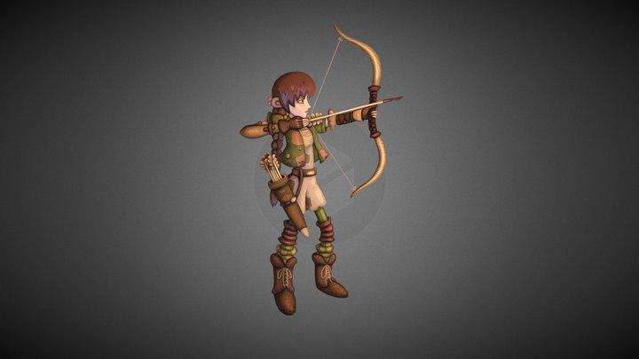 Jane the Elf (2D) 3D Model