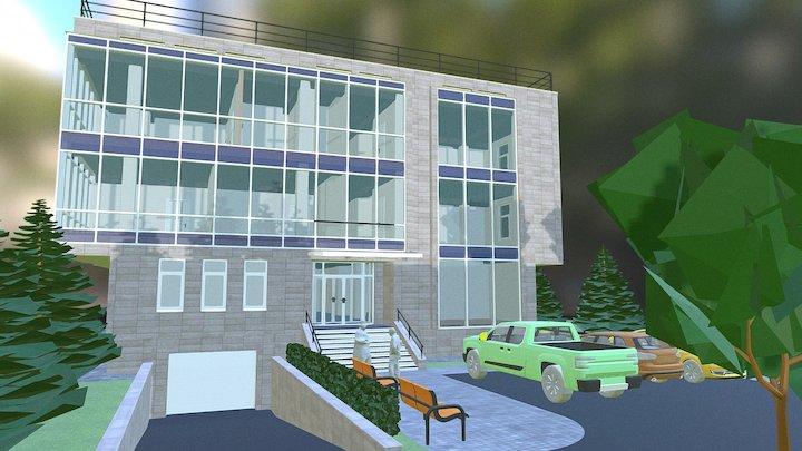 Office in Almaty city 3D Model