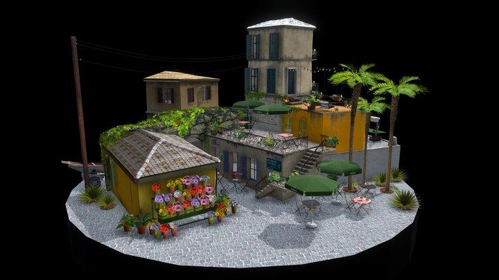 """Cityscene """"Italy ,Stresa"""" 3D Model"""