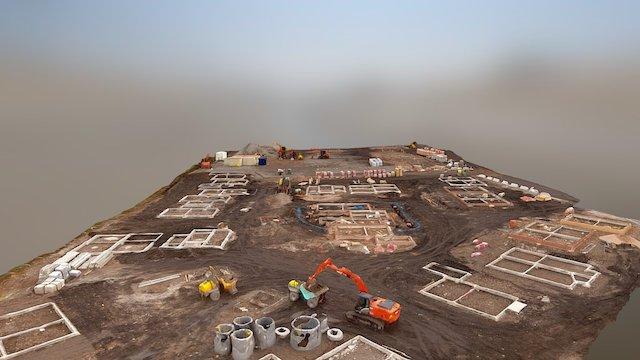 Construction Site Drone Survey 3D Model