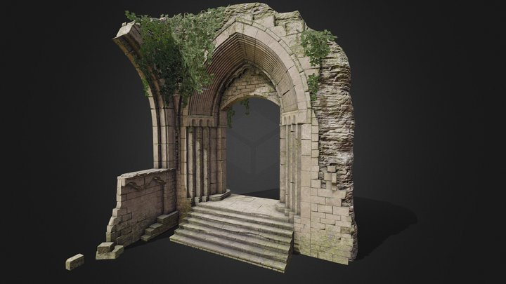 Overgrown Archway 3D Model