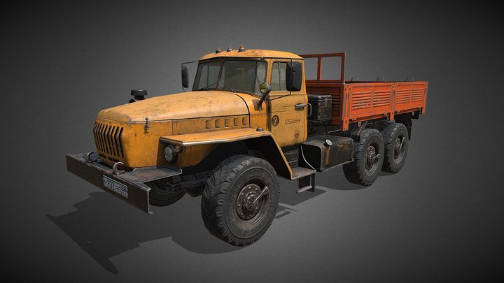 Heavy truck Ural 3D Model