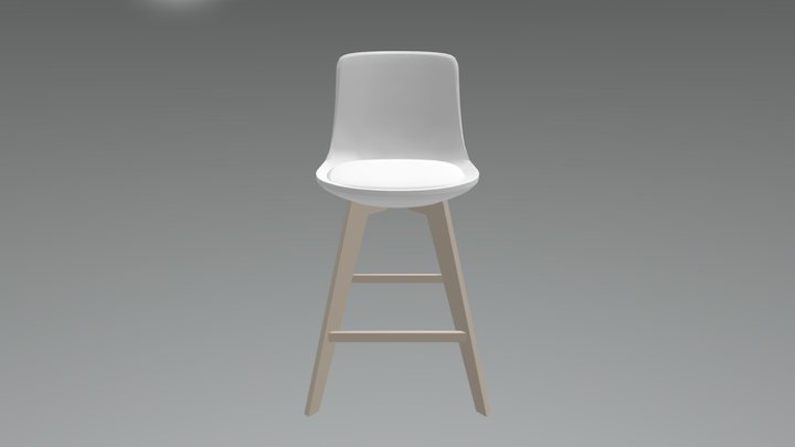 Tabouret Xylo 3D Model
