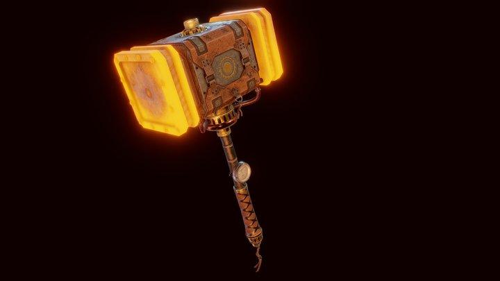 Big Daddy - Steampunk Hammer 3D Model