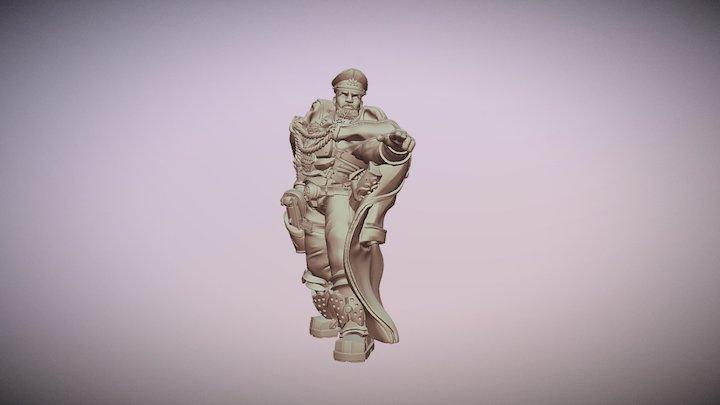 Krieger General Ghamak miniature 3D Model