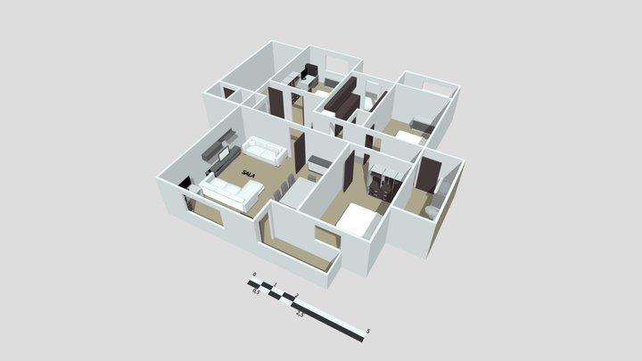 PLANTA DE CASA 3D Model