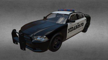 Dodge Charger 2011 Police Interceptor 3D Model