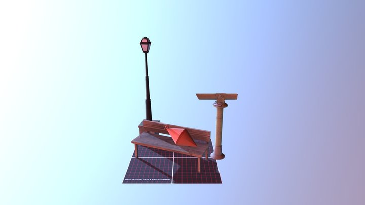 ASSIGNMENT: 5 Finished Props 3D Model