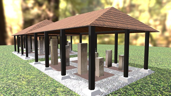 Gucha collection of tombstones, Western Serbia 3D Model