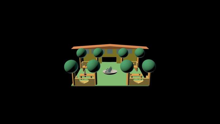 Giardino Zen 3D Model