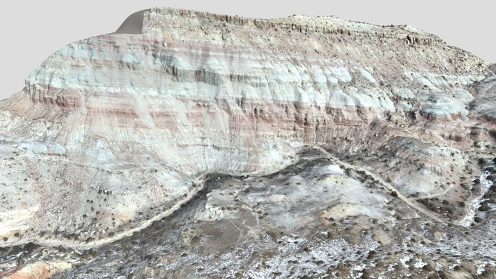 Jurassic Geology, Andy's Loop Trail, CO 3D Model