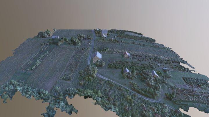 Román-hegy - részlet (Zalacséb) 3D Model