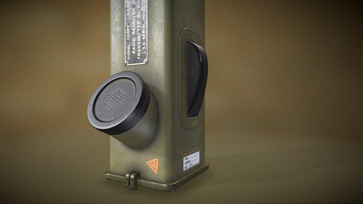 US Army Radio Walkie Talkie 3D Model