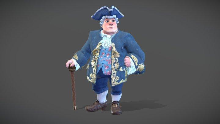 Christopher the nobleman 3D Model