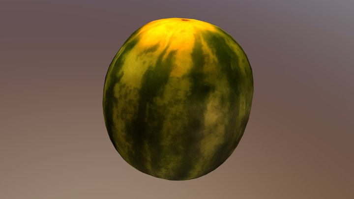 Watermelon (Photogrammetry) 3D Model