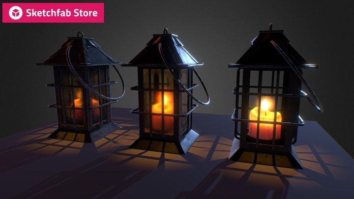 Store Item: Medieval Lantern 5$ 3D Model