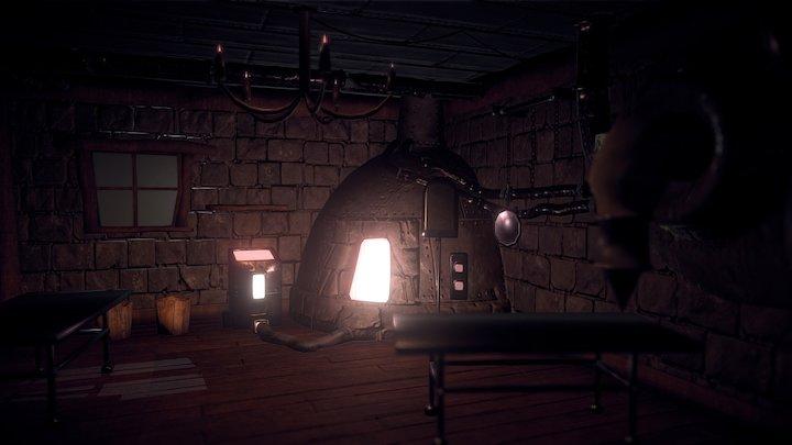 Steampunk Bakery/Workshop 3D Model