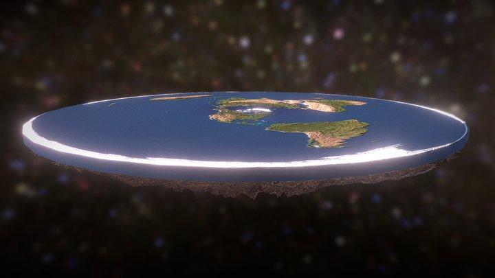 Flat Earth Theory 3D Model