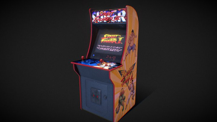 Arcade machine Street Fighter 3D Model