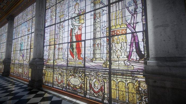 Galería de Emplomados del Alcázar de Chapultepéc 3D Model