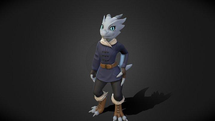 Kobold Character - Azure 3D Model