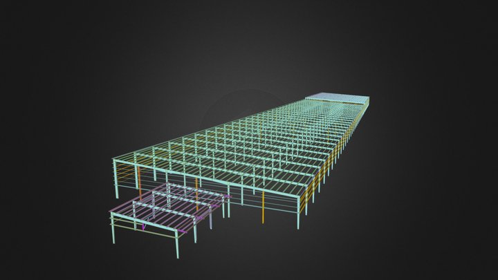 Project 5 - Steel Structure Shed 3D Model