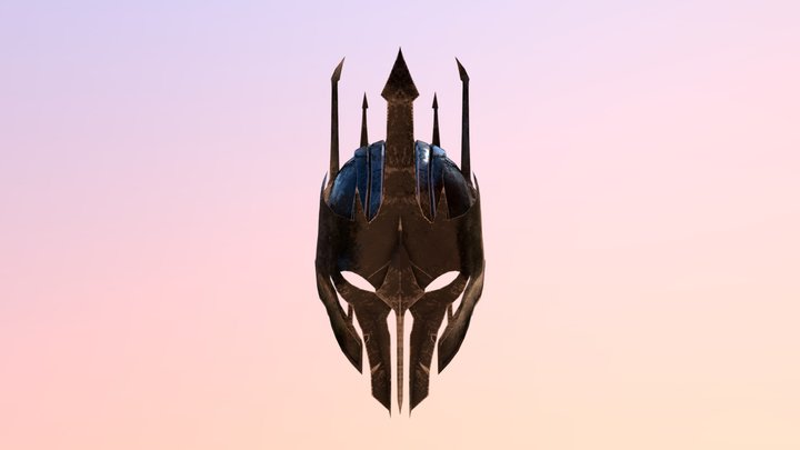 Sauron Helmet middle earth shadow of war 3D Model