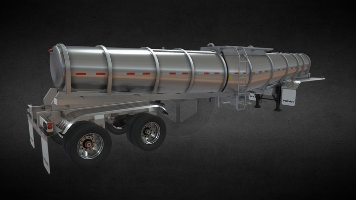 2020 Deep Drop PolarTank Trailer 3D Model