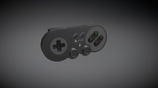 SNES PS4 Controller 3D Model