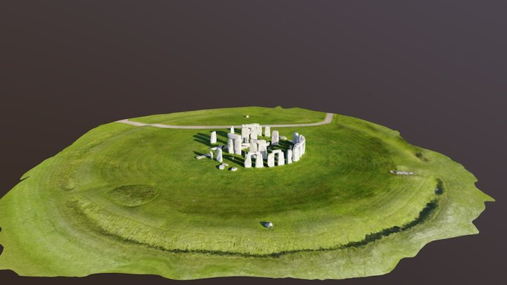 Stonehenge DJI Mavic Jaymie James 3D Model