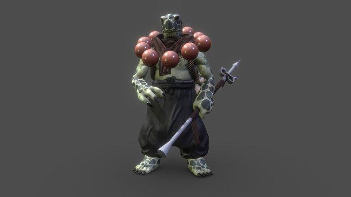 Turtle Monk 3D Model