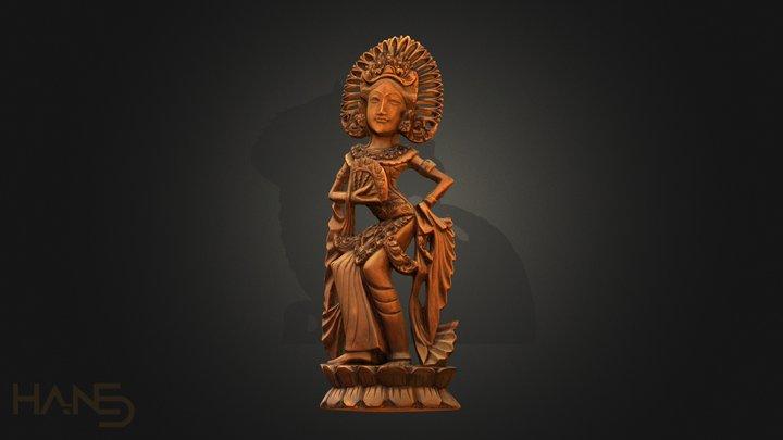 Indonesia statue 3D Model