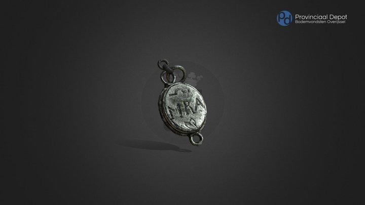 Medaillon, nieuwe tijd, 17de of 18de eeuw 3D Model