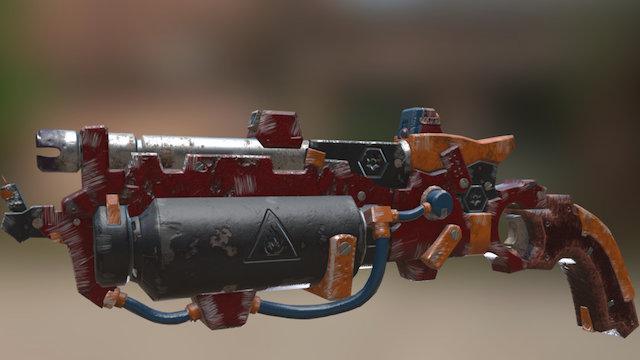 Scrapyard_Gun 3D Model