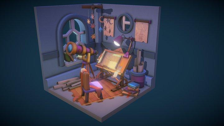 Astronomer Room 3D Model
