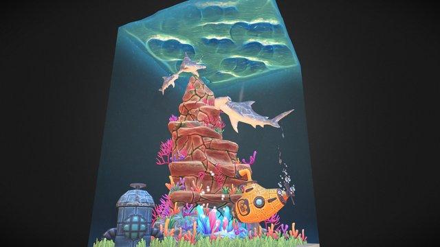 Underwater Diorama 3D Model