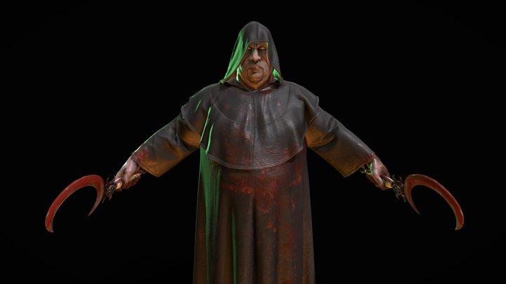 Fallen monk 3D Model
