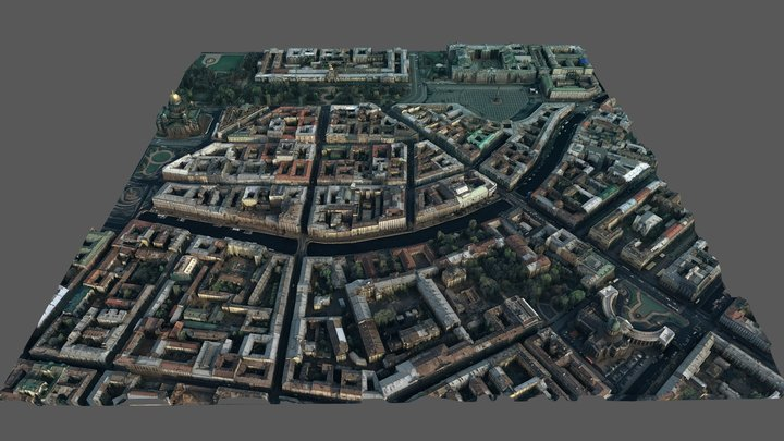 Saint Petersburg 3D Model