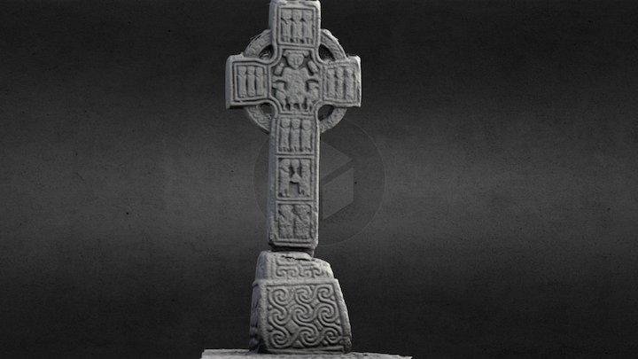 KD040-002004- Castledermot North High Cross 3D Model