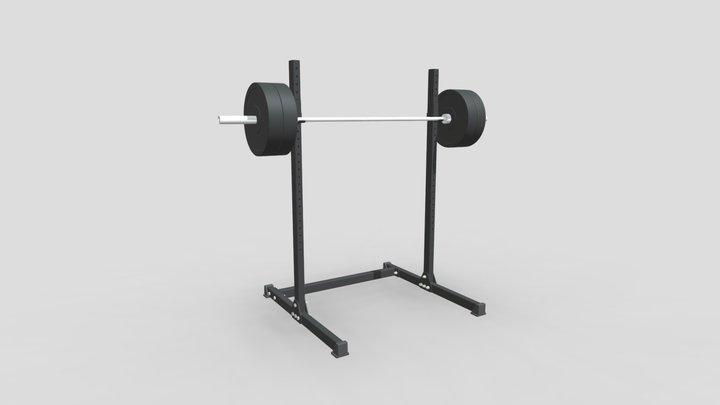 Squat Stand ● Стойка для штанги 3D Model