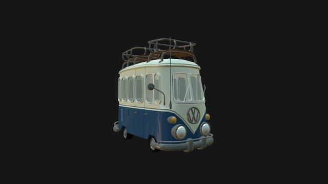 66 Volkswagen Van 3D Model