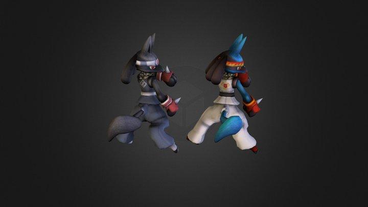Project M - Gi Lucario Alt Costume 3D Model