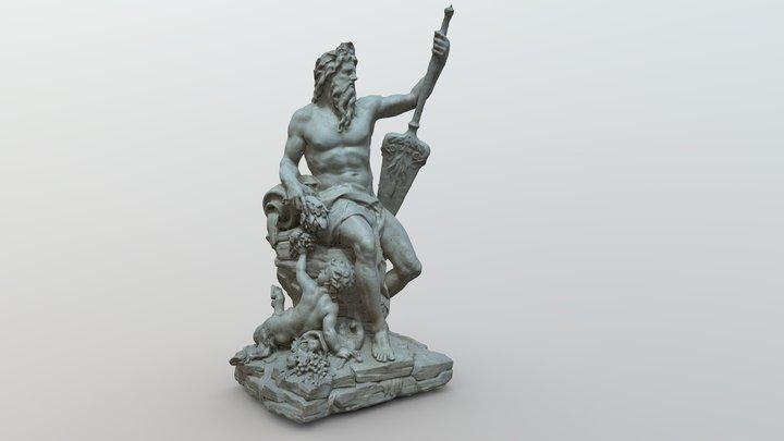 La Seine sculpture, Le Louvre, Paris 3D Model