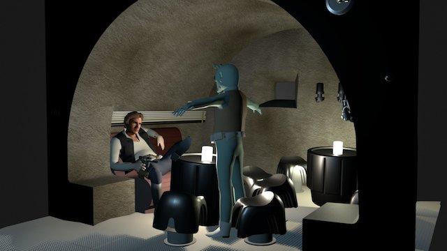 Cantina Diorama WIP 3D Model