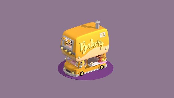 Bakery Truck 3D Model