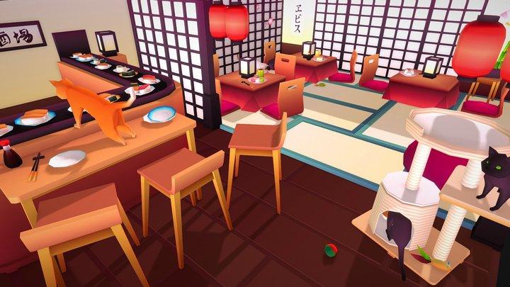 Neko restaurant 3D Model
