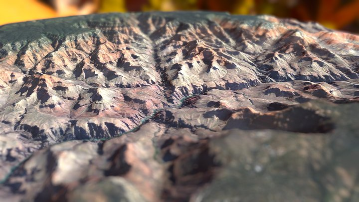 Grand Canyon National Park & Bright Angel Canyon 3D Model