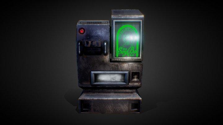 Cyber Punk vending machine 3D Model