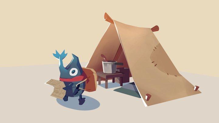 Bettle Camp Gang 3D Model