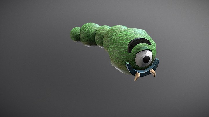 Worm/Intestine Boss Textures and Animation 3D Model